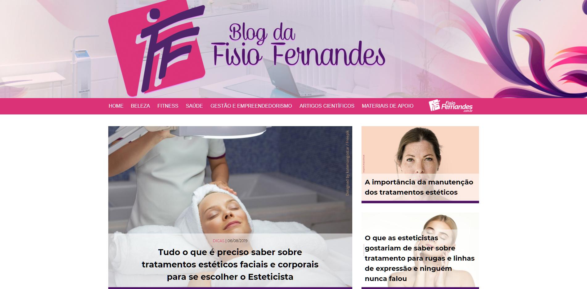 Blog da Fisio Fernandes