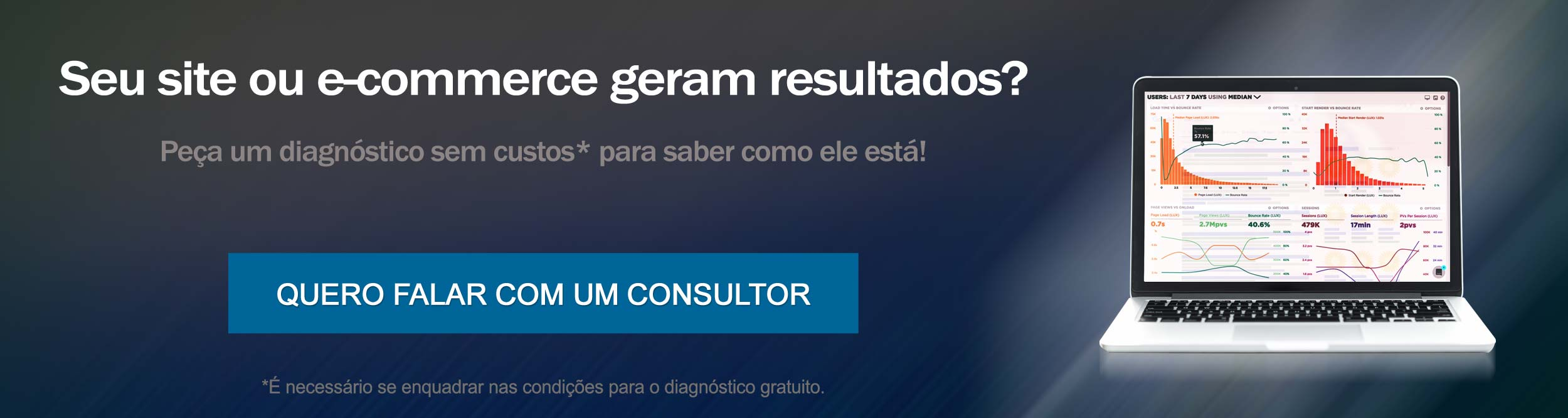 Peça um diagnóstico de seu site, agora!