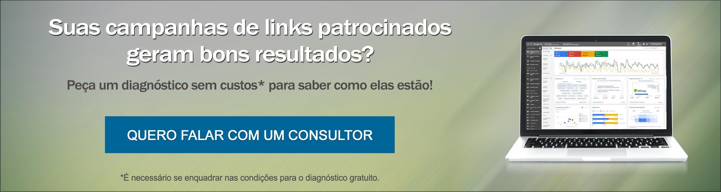 Diagnóstico gratuito de suas campanhas de Google Ads. Peça agora!