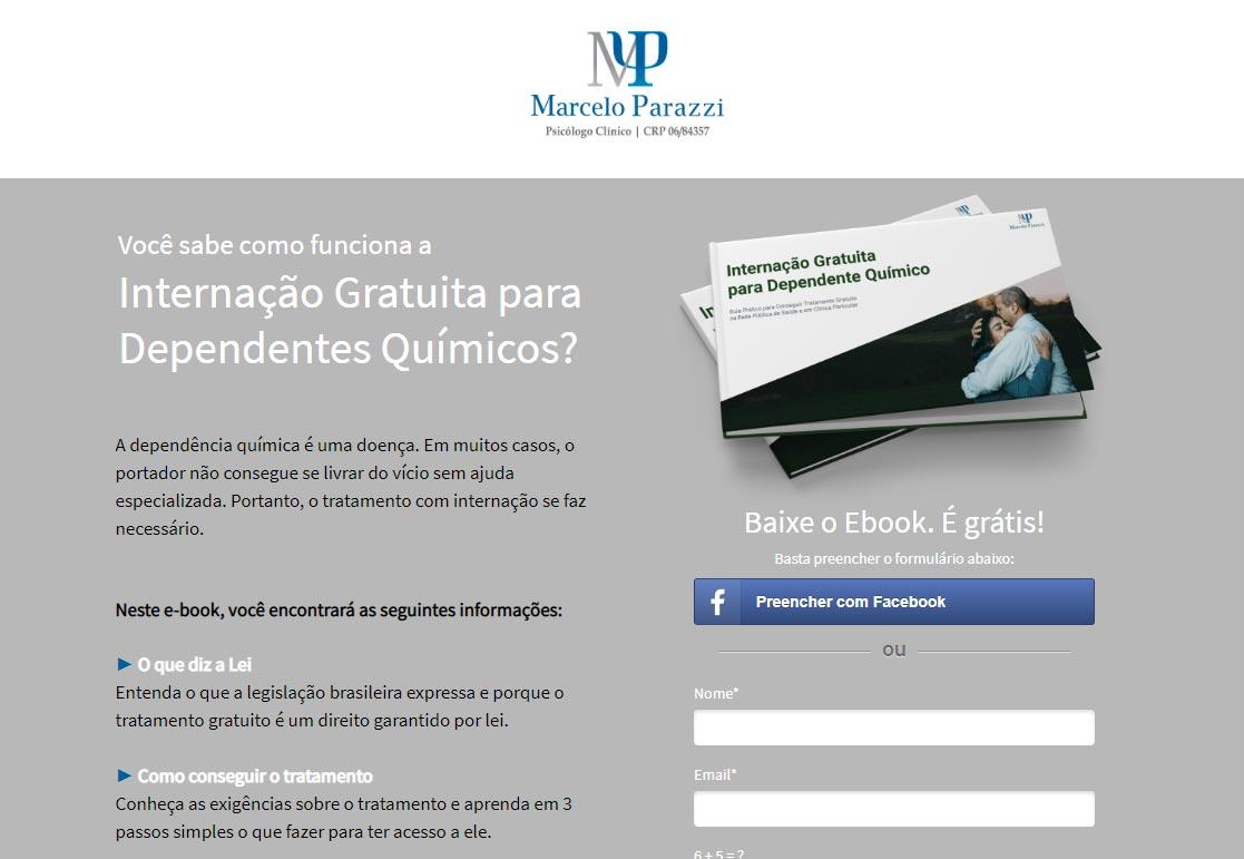 Exemplo de landing page para baixar e-book grátis